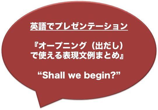 【英語でプレゼン】オープニング(出だし)で使える表現文例まとめ